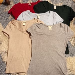 5 H&M basic tees size small